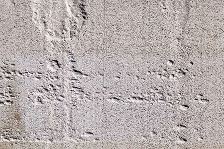 gray porous brick for construction of buildings and structures, close-up of new and cheap building materials on construction sites