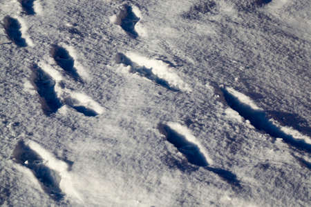 snow drifts in winter, snow of great thickness after snowfall Stock Photo