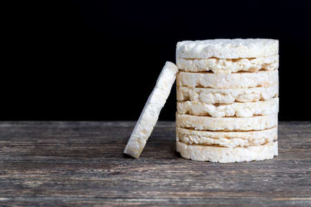 stacked together made from processed rice natural rice loaves are used in dietary nutrition