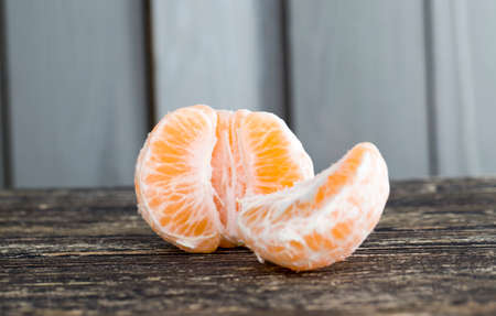 juicy ripe fruit that is ready for nutrition and therefore peeled, close-up