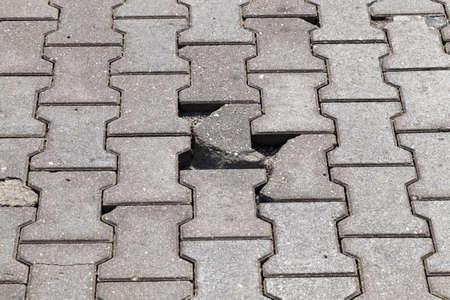 road made of modern tiles 版權商用圖片