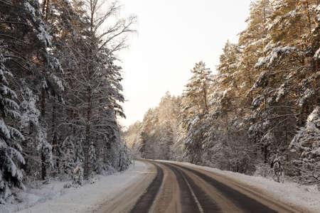 narrow winter road