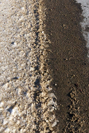 close-up of a rural sand road