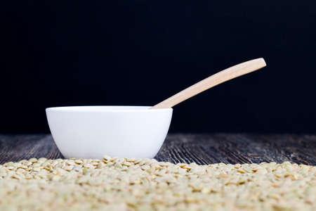 raw lentil grain raw dried grain 스톡 콘텐츠