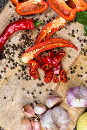 sliced hot red pepper