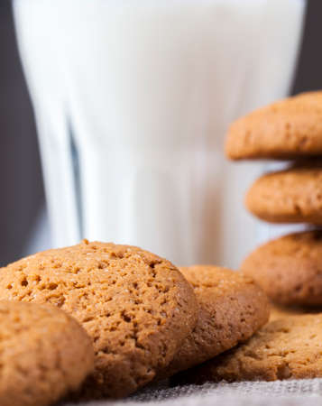 low-calorie oatmeal cookies on the table