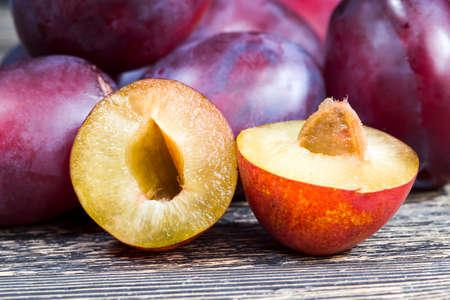 sliced homemade plums