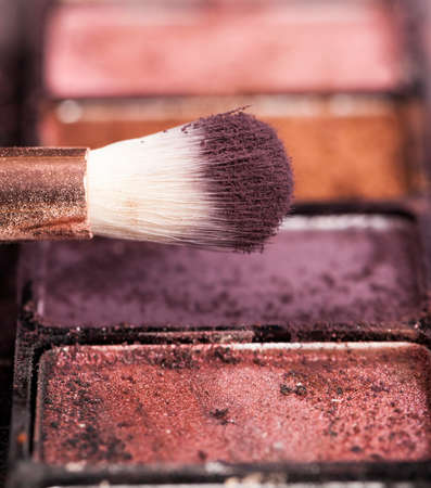 small brushes for makeup work 스톡 콘텐츠