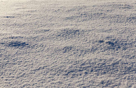 snow photographed in the winter season, which appeared after a snowfall. close-up, Standard-Bild
