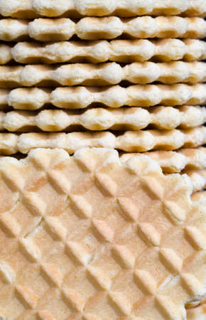 a large number of delicious oval wafers made from wheat flour and other ingredients