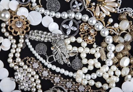 lustre: Jewelry on black background