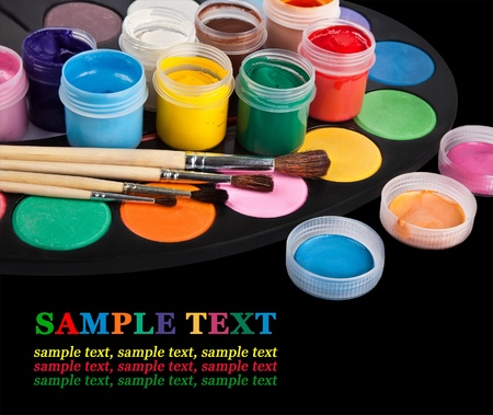 palette of colors isolated on black Stock Photo