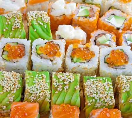 Closeup japanese sushi  Stock Photo