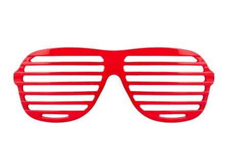 Retro red  shades sunglasses isolated on white background