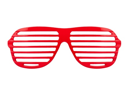 Retro red  shades sunglasses isolated on white background