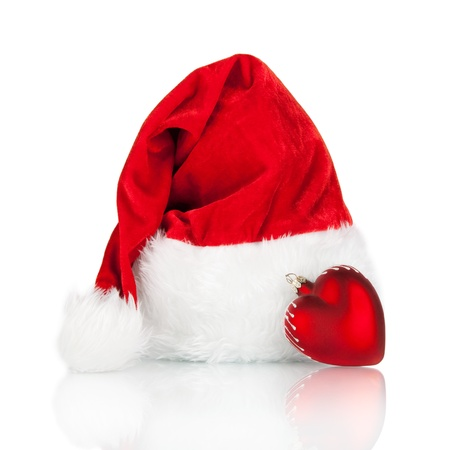 Santa Claus hat isolated on white background  Stock Photo