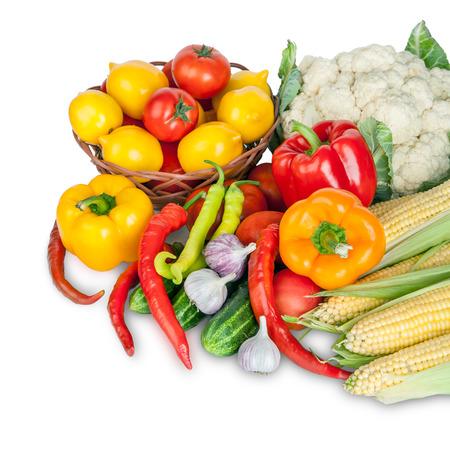 Healthy Organic Raw Vegetables  Food ingredient  Art Design Background