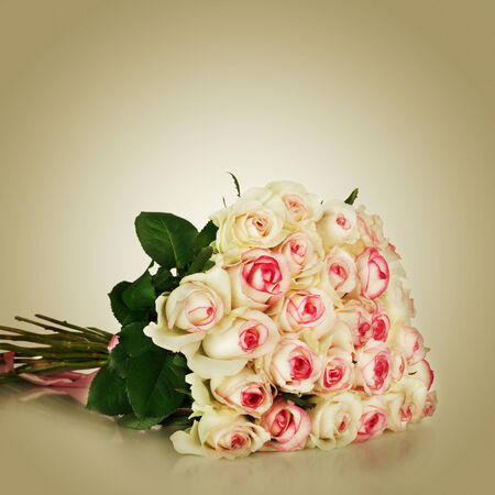 Bunch of pink roses Stock Photo