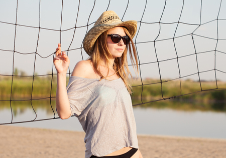 Girl in summer day Stock Photo