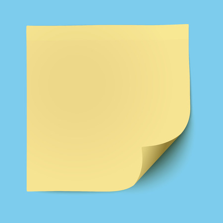 noticeboard: Yellow sticky note isolated