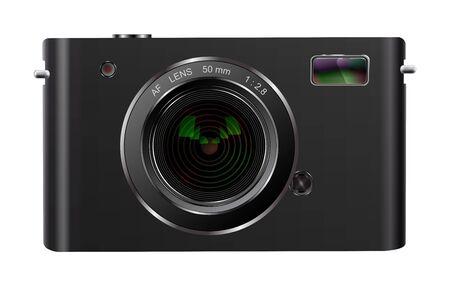 photocamera: Abstract digital photo camera isolated on white Illustration