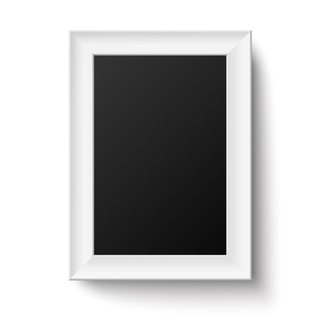 Vertical White A4 Wooden Frame For Picture Or Text Isolated Royalty