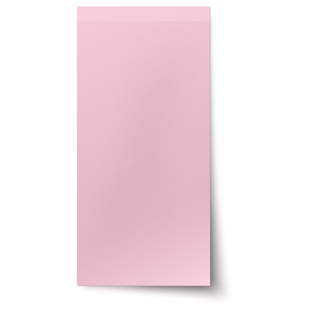 noticeboard: Pink, rosy vertical sticky note isolated on white background Illustration