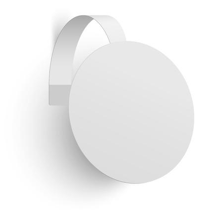 advertising wobbler: Advertising wobbler isolated on white background. Raster version illustration. Illustration