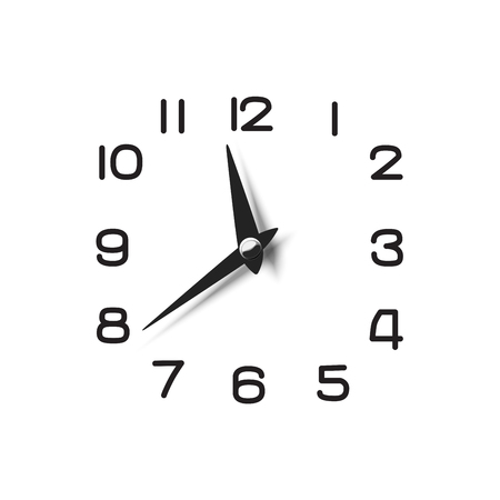pointers: Clock dial with pointers and numerical symbols