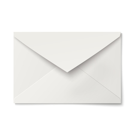 slightly: Slightly, ajar opened white envelope isolated Illustration