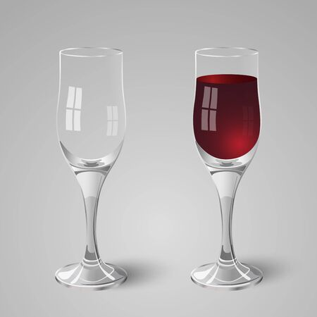 wineglass: Wineglass with red wine