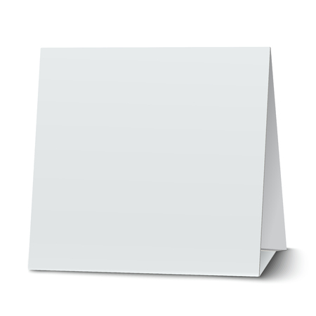 wedding tent: Square blank paper table card isolated Illustration