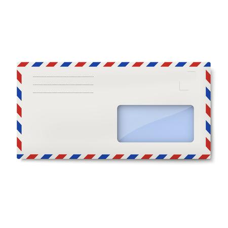 avia: White avia DL envelope with window for address Illustration