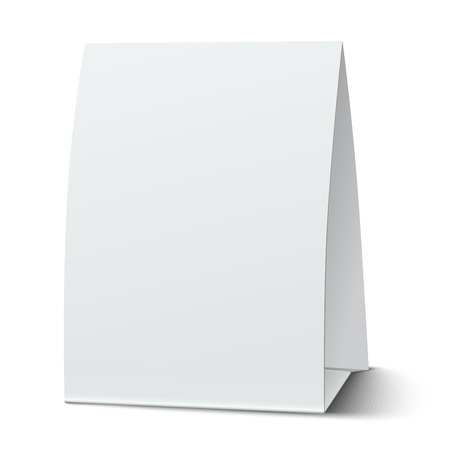 placecard: Blank paper table card isolated