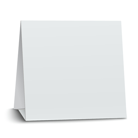 placecard: Square blank paper table card isolated on white background