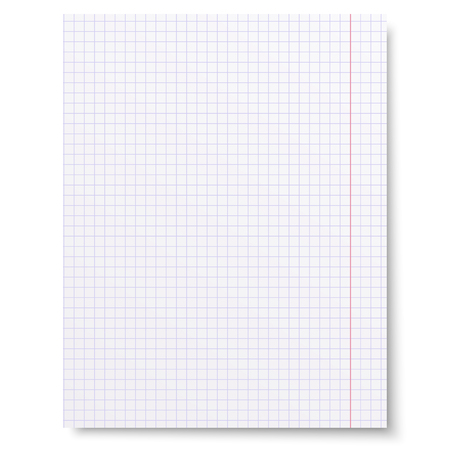 notebook paper: Notebook squared paper background isolated