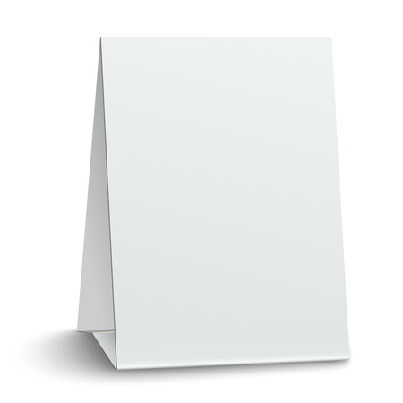 placecard: Blank paper table card isolated on white background Illustration