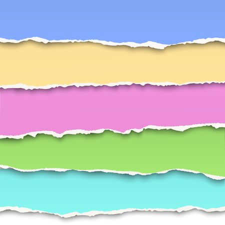 oblong: Oblong layers of torn pastel color paper