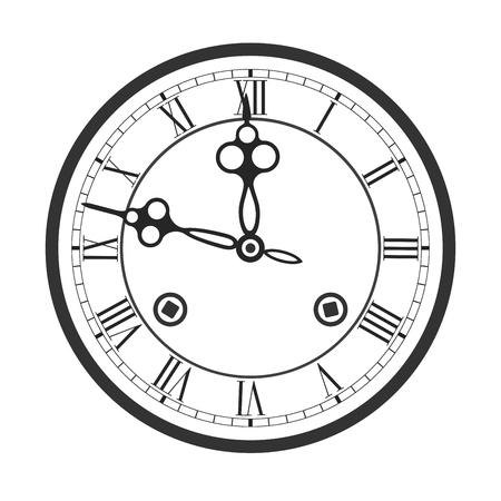 Wijzerplaat met Romeinse cijfers van de klok met klokkenspel