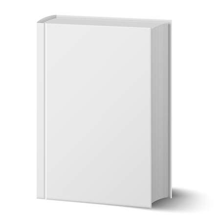Blank Vertical Book With Hard Cover Template Standing. Closeup ...
