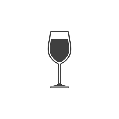 Wine in a glass icon isolated on white background Illustration