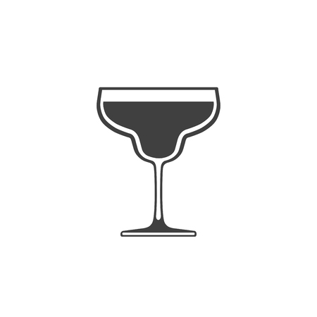 Cocktail glass icon isolated on white background