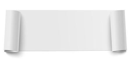 Vector oblong horizontal roll of white sticky paper
