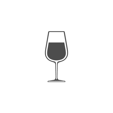 Wineglass with wine icon isolated on white background