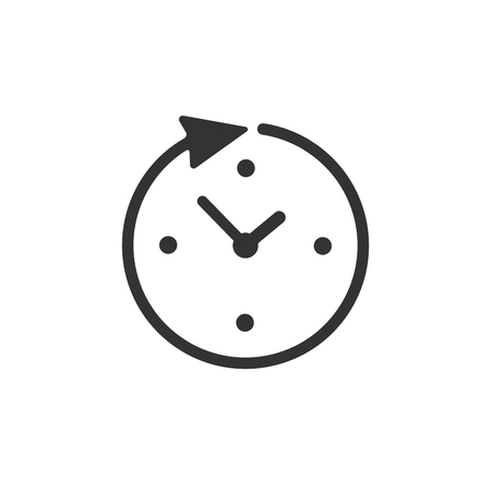 Clock, time icon isolated on white background