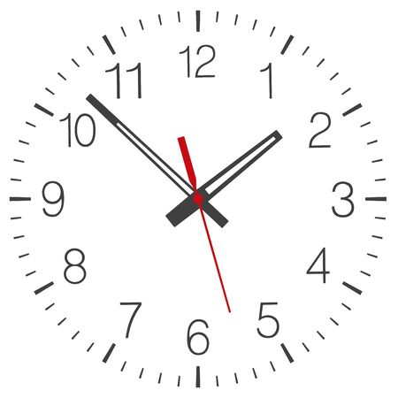 Clock face vector isolated