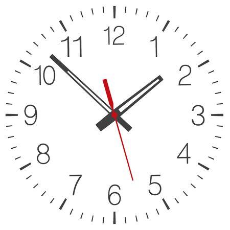 Wektor twarz zegara na białym tle