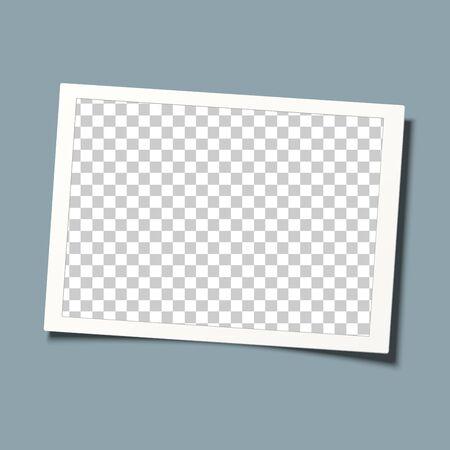 Retro frame vector. Template design. Transparent picture frame.
