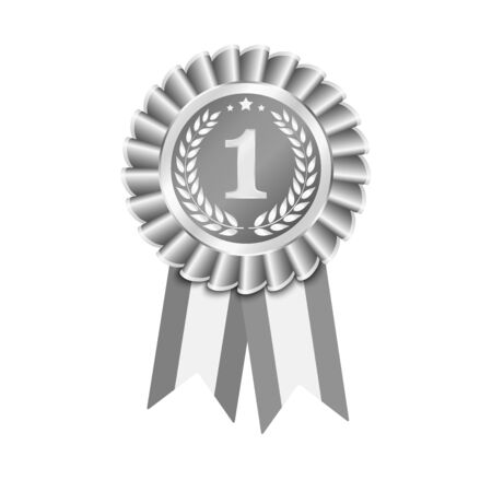 Ribbons award vector 3d illustration isolated on white background