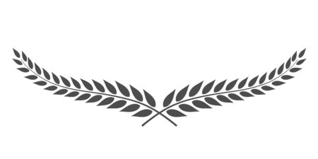Laurel wreath vector isolated on white background